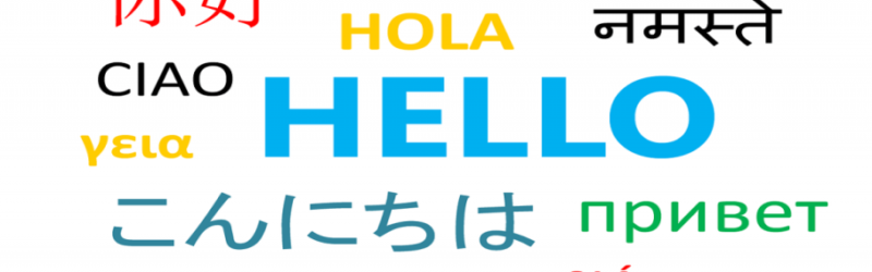 Linguistic career - image of different language script from all over the world saying HELLO