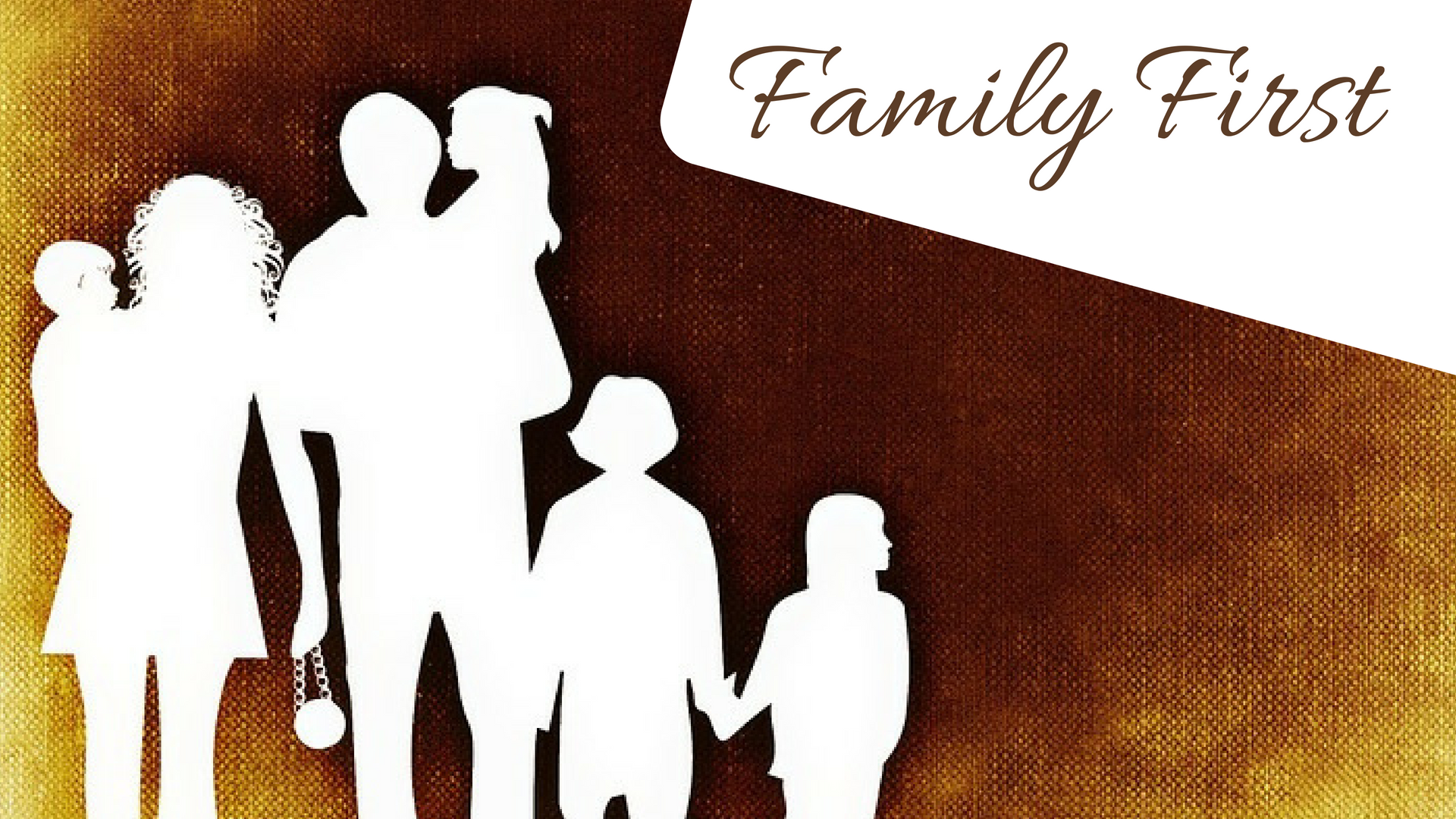 family First - Image of family sketch on a canvas