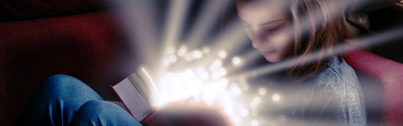 Broaden your intellectual Horizon - Image of a girl reading a book